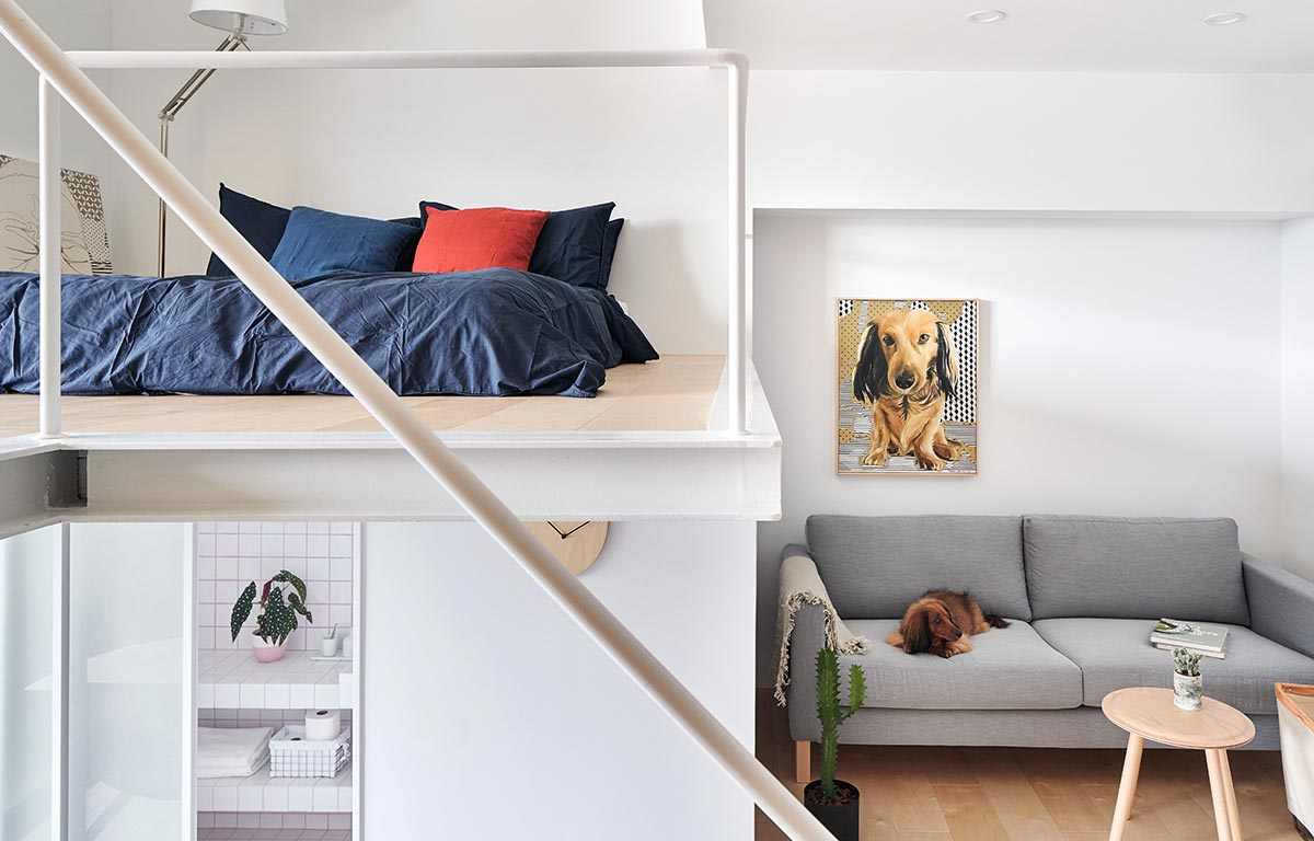 tiny apartment design mezzanine - Tiny XS House Border