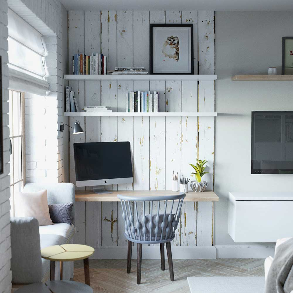 tiny apartment desk design jl - Amur Tiny Apartment Design