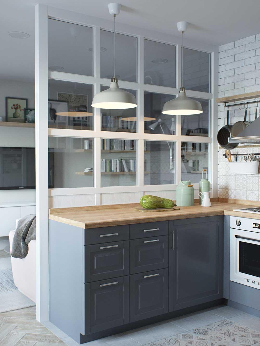 tiny apartment kitchen design jl - Amur Tiny Apartment Design