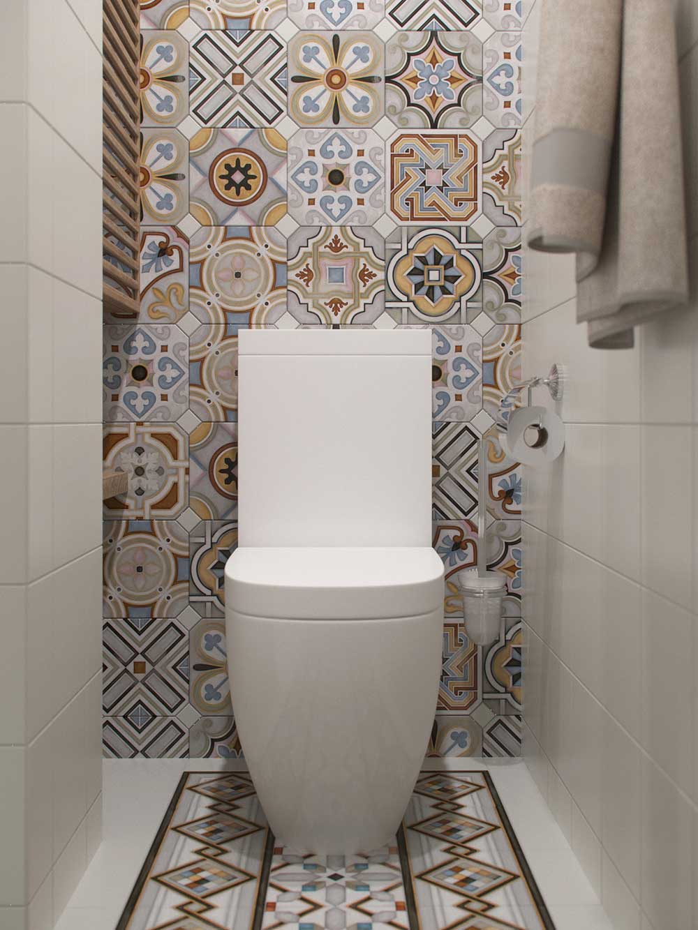 tiny apartment tile design jl - Amur Tiny Apartment Design