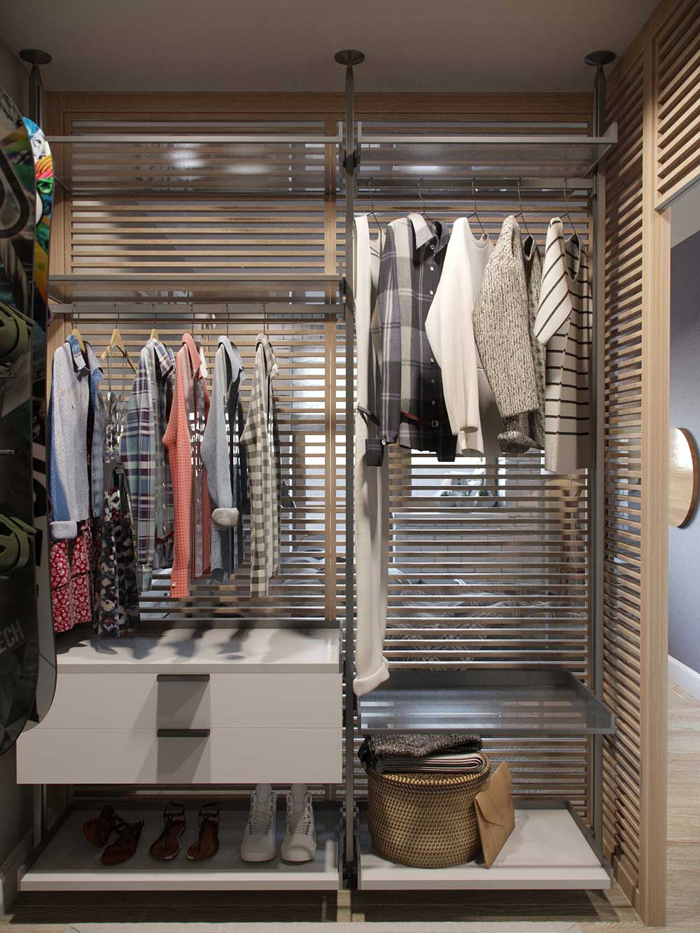 tiny apartment wardrobe design jl - Amur Tiny Apartment Design