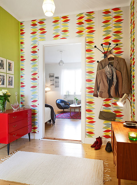Tiny Studio Apartment In Sweden Colorful First