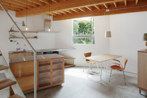 House in keyaki tiny yet bigger japanese architecture for Tiny house with main floor bedroom