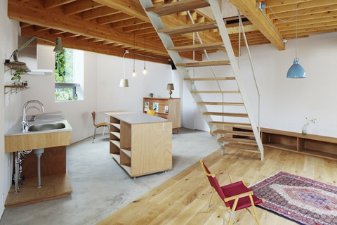 House in keyaki tiny yet bigger japanese architecture - Casa tipo loft ...
