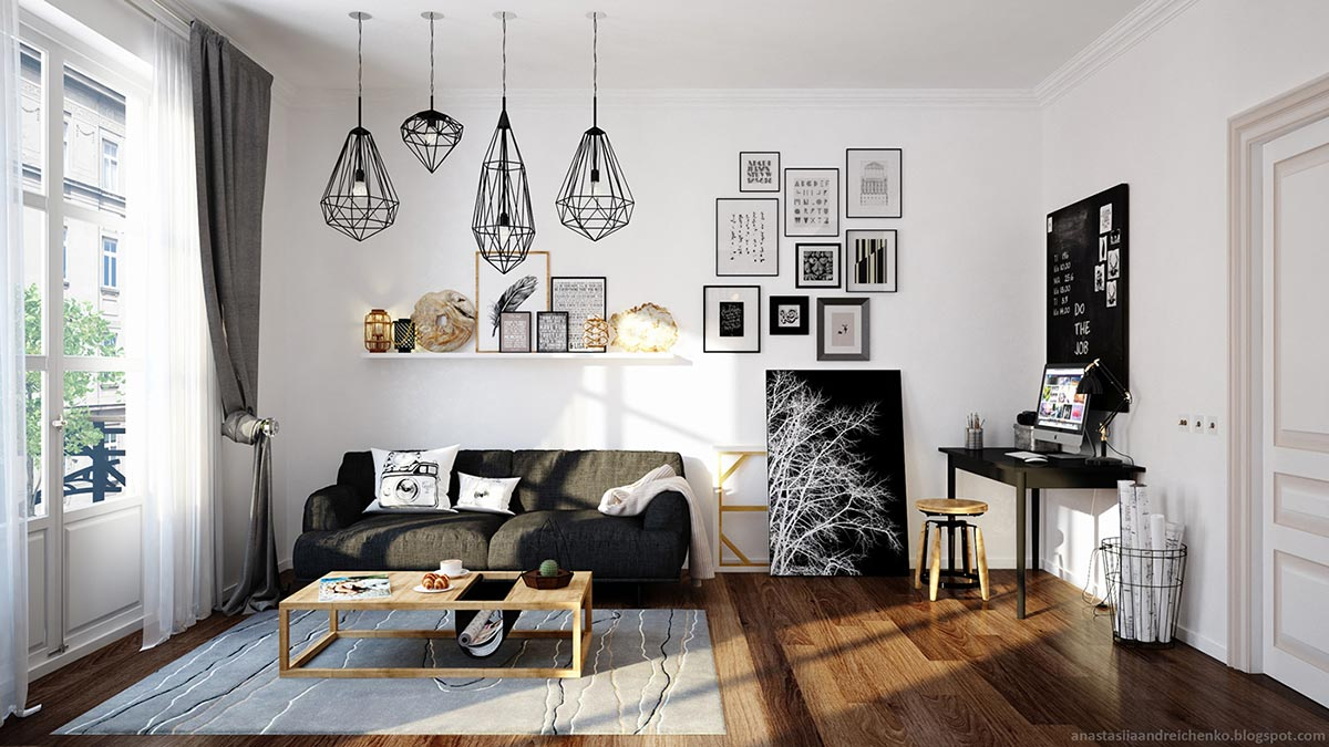 Monochrome small spaces for Monochrome interior design ideas