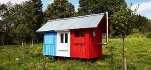tiny prefab cabin france 300x140 - France Prefab Tiny House