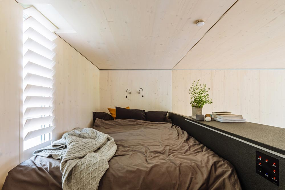 tiny prefab cabin loft bedroom koda - Koda Tiny Prefab Home