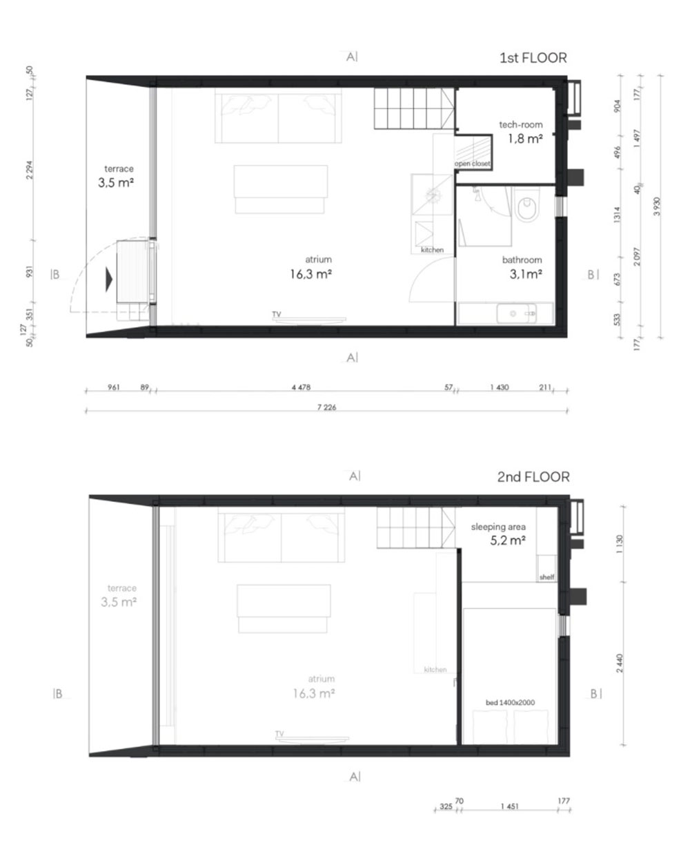 tiny prefab cabin plan koda2 - Koda Tiny Prefab Home