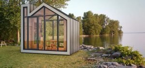 tiny prefab home bunkie1 300x140 - The Bunkie