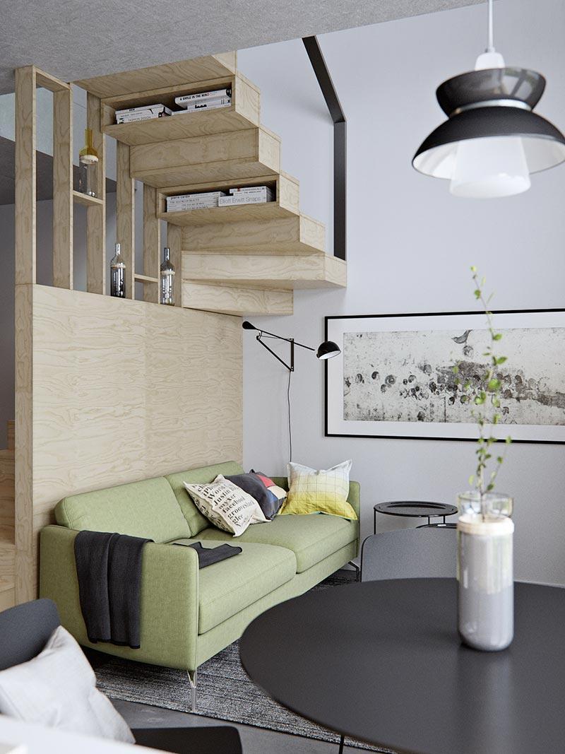 Amazingly Tiny Two Level Studio Apartment With A Sleeping Loft