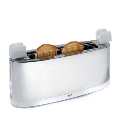 toaster bun warmer alessi 2 - Alessi Toaster with Bun Warmer: Grab It While It's Hot