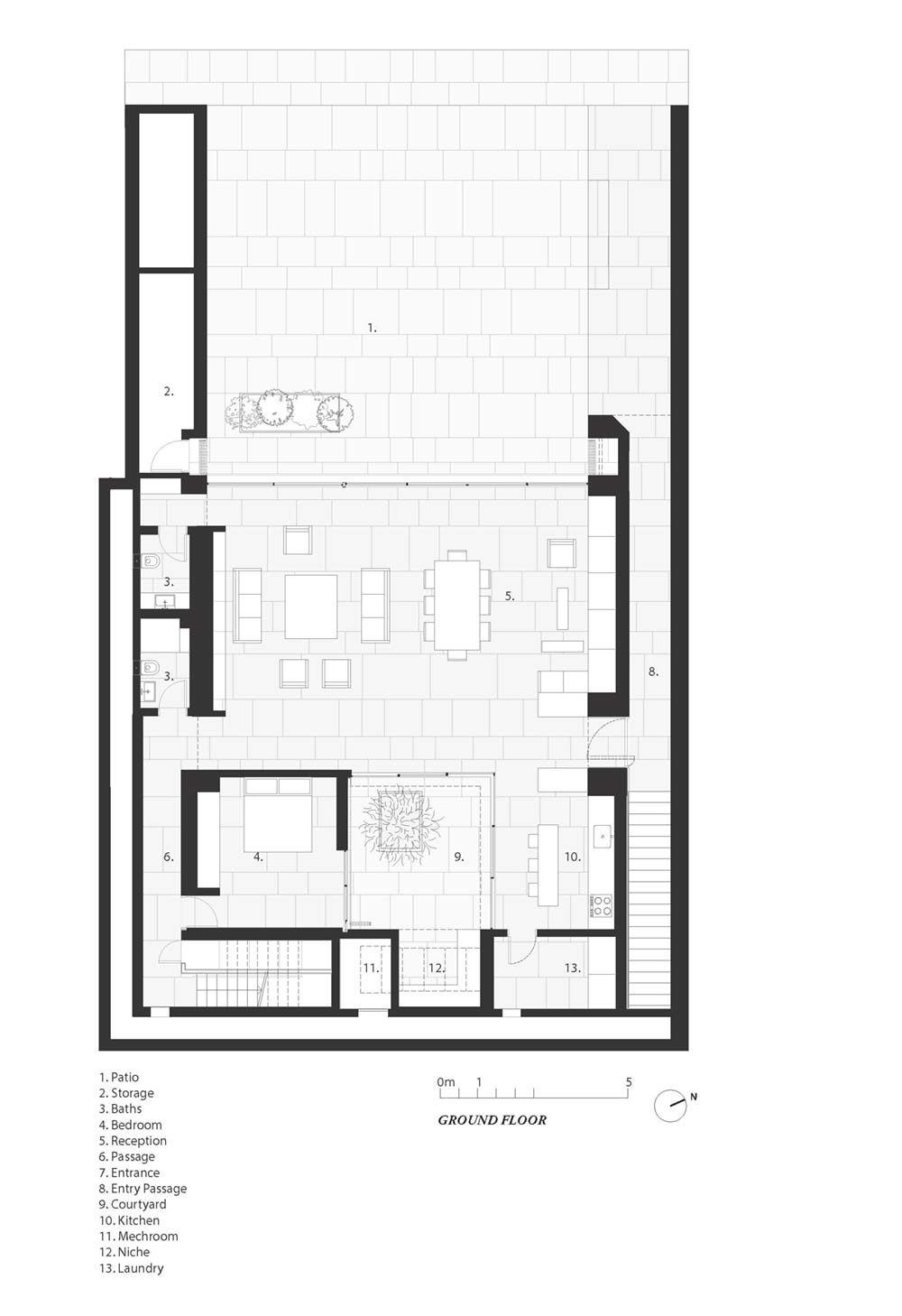 towering home courtyard plan hs - The Courtowers