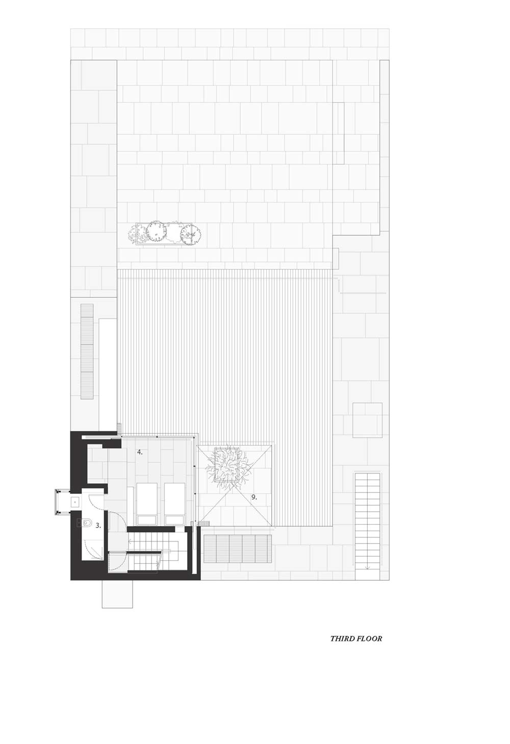 towering home courtyard plan hs3 - The Courtowers