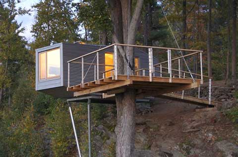 treehouse design cliff6 - Cliff Treehouse: A New York Getaway