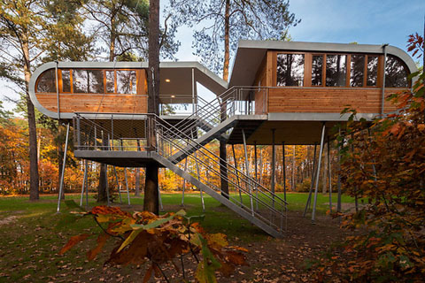Marvelous Hechtel Eksel Treehouse: Sustainability In The Making