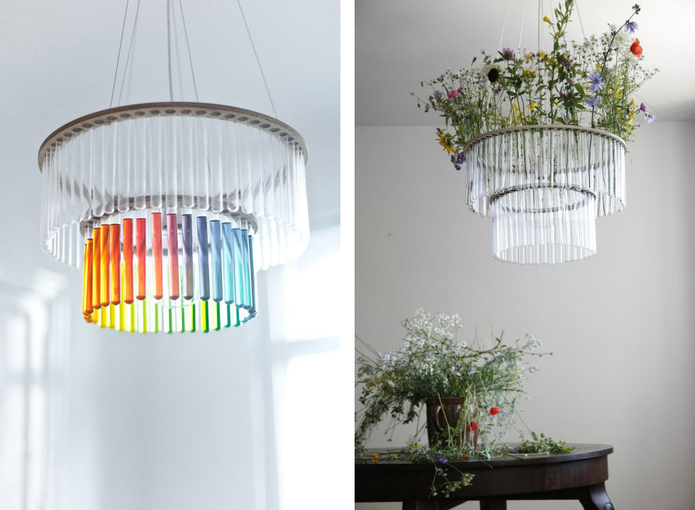Maria SC Chandelier Lighting - Ceiling lamp made by chemistry test tubes