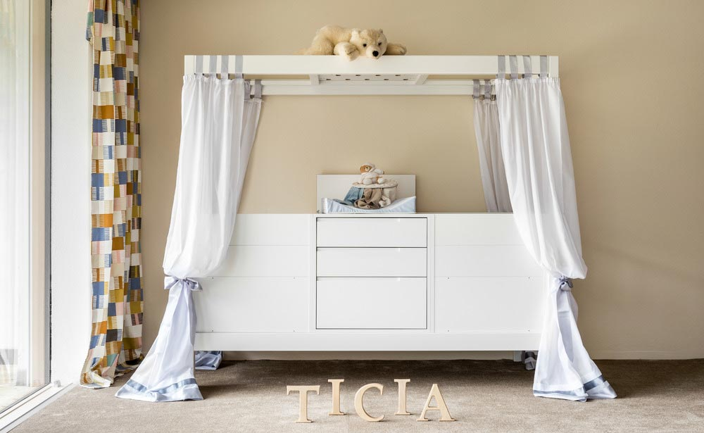 two baby cradles in one - TICIA The Growing Bed