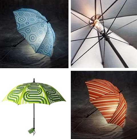 umbrella light - Lighted Umbrella: Light Rain Forecast