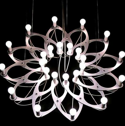unique chandelier ornametrica3 - Ornametrica: A Chandelier That Changes To Fit Your Mood