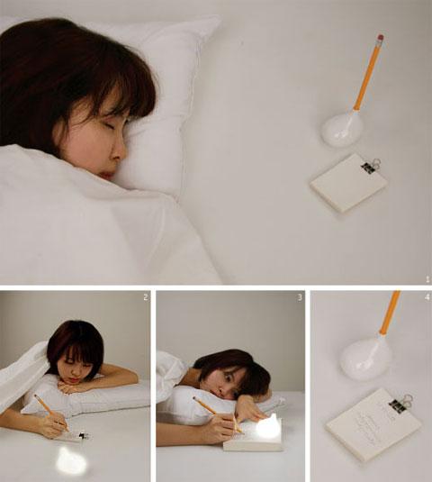 unique lamp light write - Write? Light! - Bright Idea