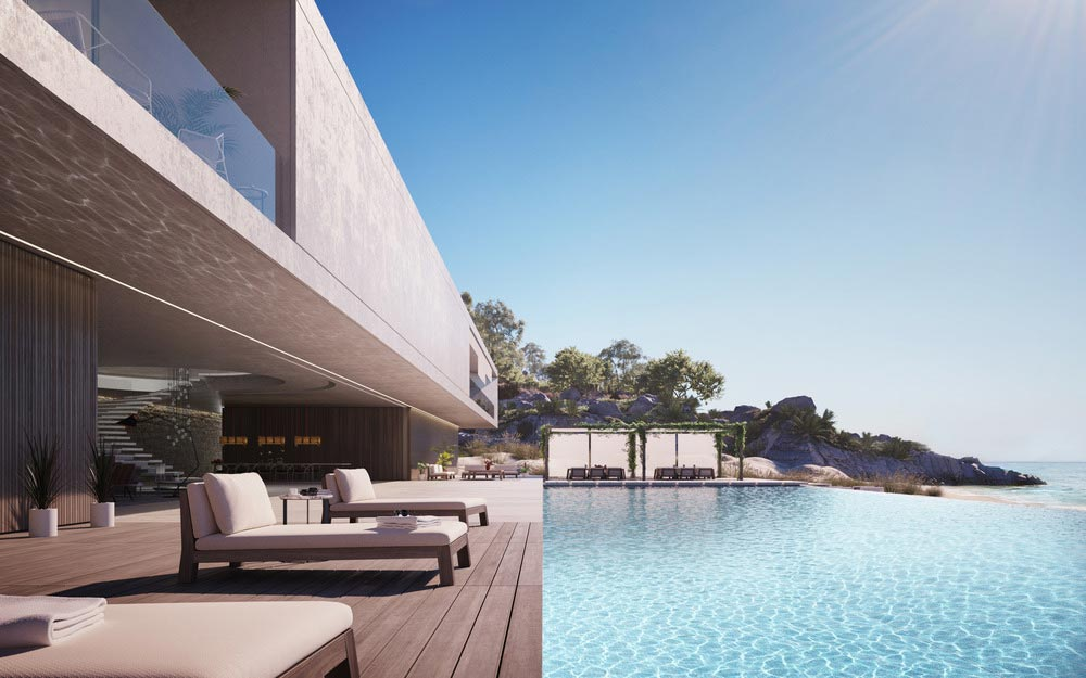 Luxury Home Deck and Infinity Pool