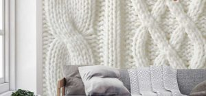 Knit wallpaper murals