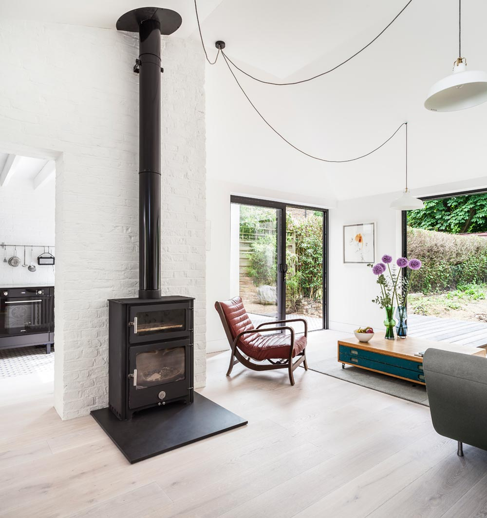 victorian house extension living km - Pages Lane