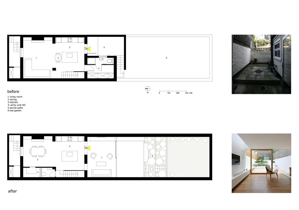 London victorian house new living room extension facing for Extension floor plans