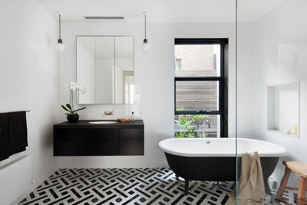 victorian terrace house bathroom design hc - Albert Park House