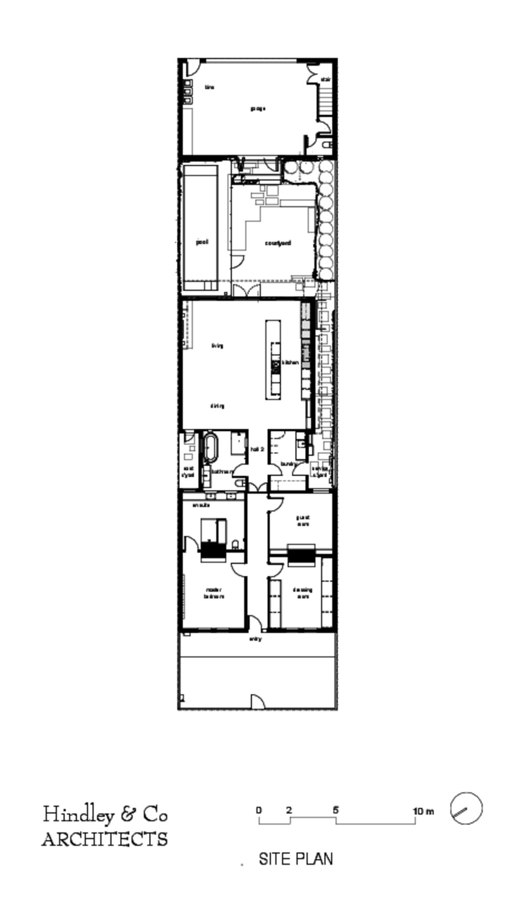 victorian terrace house design plan hc - Albert Park House