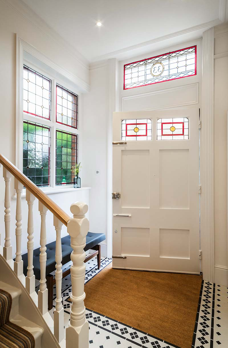 victorian townhouse entry design lli - Highgate Victorian Townhouse