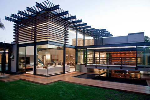 Modern Architecture - Villa renovation in South Africa - look from outside