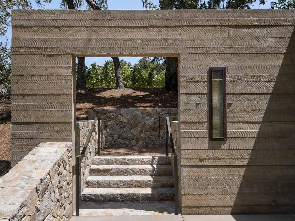 vineyard concrete wall wwa - Quintessa Pavilions