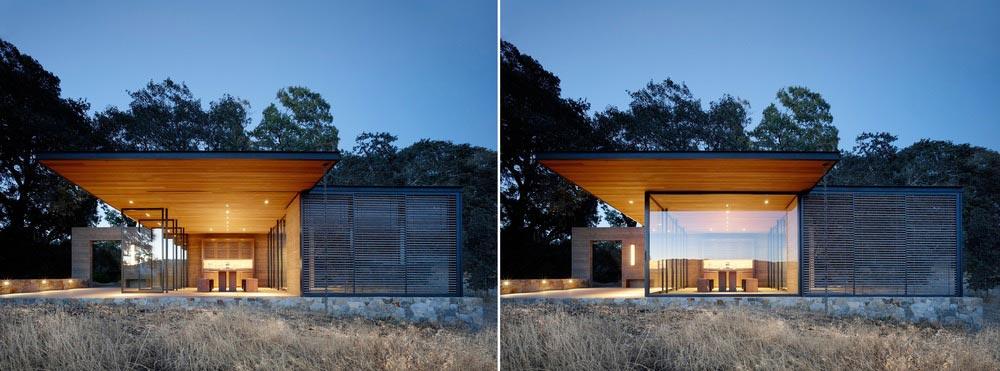 vineyard glass pavilion design wwa - Quintessa Pavilions