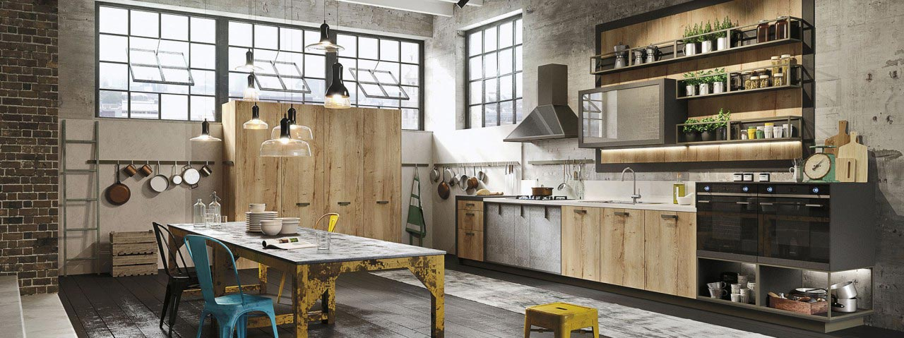 Modern Loft Kitchen Design With A Vintage Industrial Look