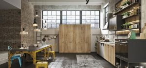 vintage industrial kitchen loft 300x140 - LOFT  Linear Kitchen