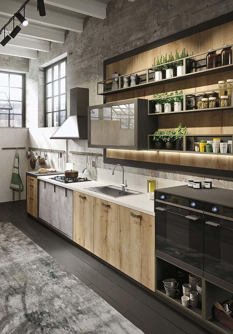 Conosciuto Modern Loft Kitchen Design With A Vintage Industrial Look WN12
