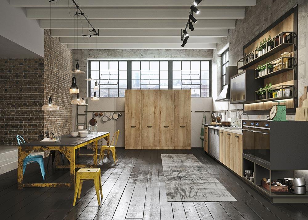 Modern Loft Kitchen Design With A Vintage Industrial Look
