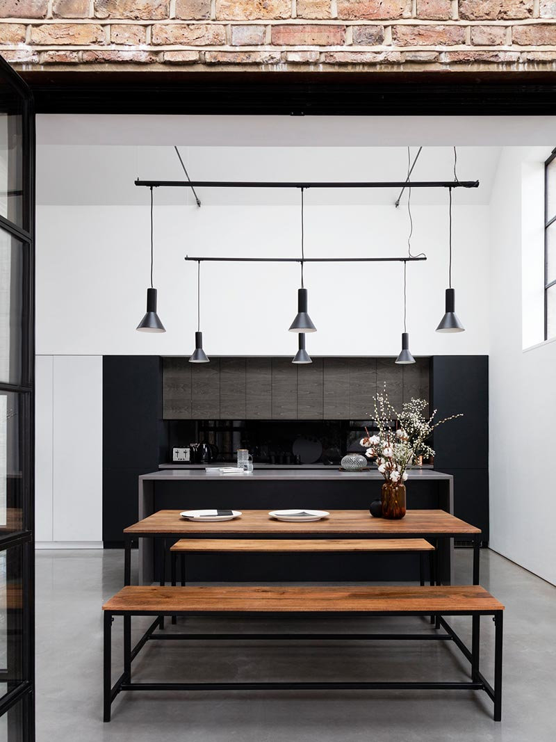 warehouse home dining design - Defoe Road Warehouse Conversion