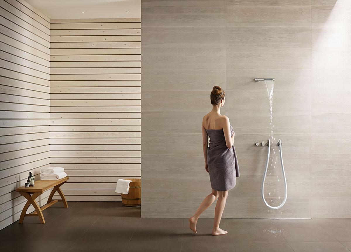 Combi Water Fall Shower Bathroom Design