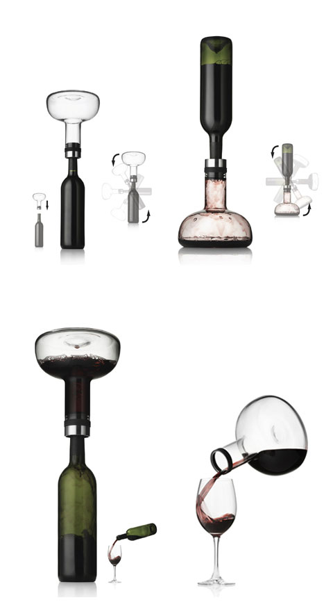 wine breather decanter menu - Menu Winebreather: Coming to Life