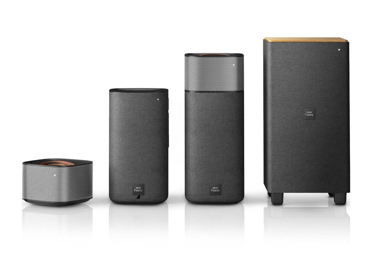 Philips Fidelio E5 Wireless Surround Sound Speakers