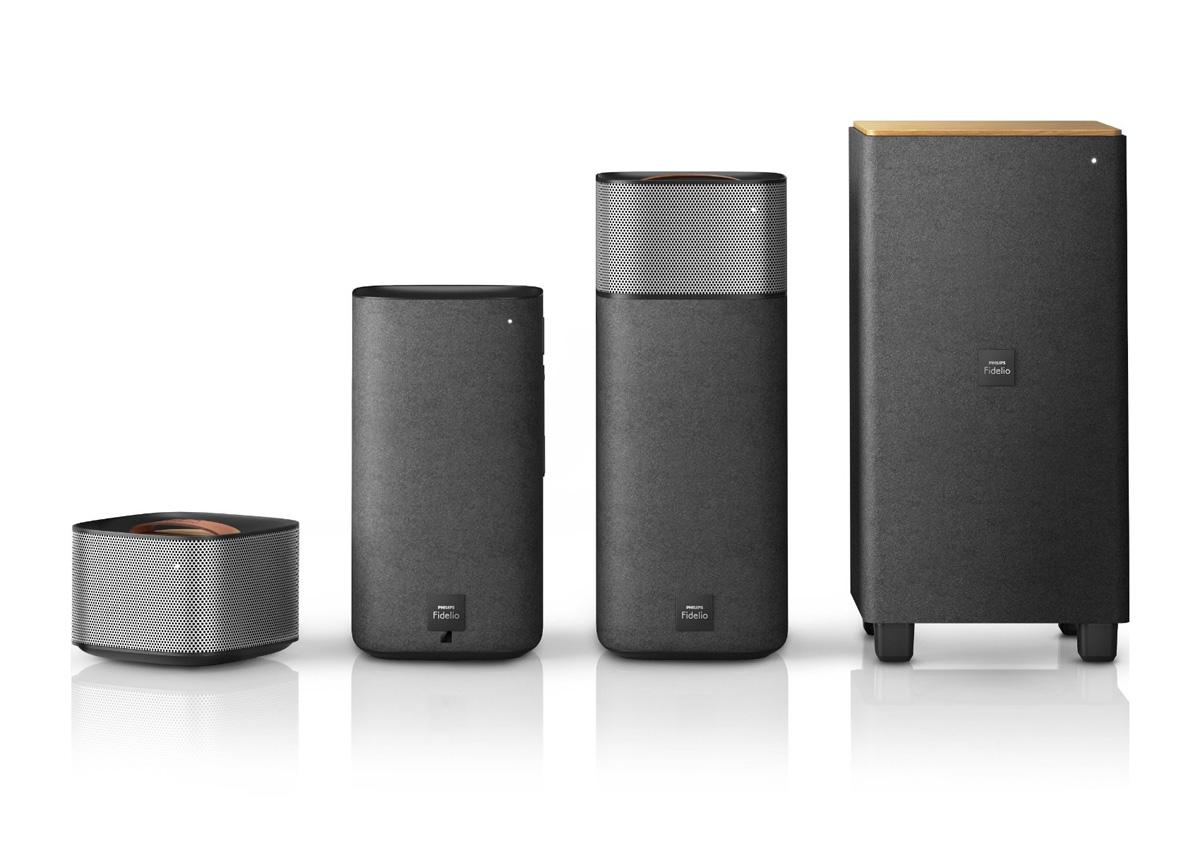 philips fidelio e5 wireless surround sound speakers. Black Bedroom Furniture Sets. Home Design Ideas