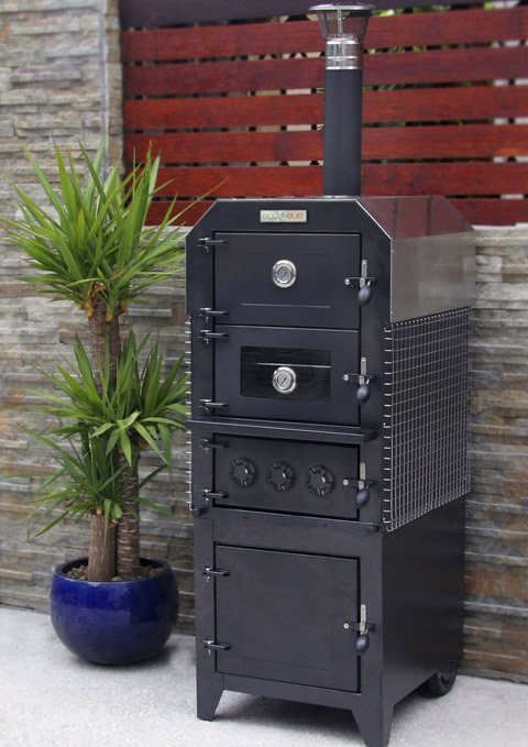 ecoque artisan oven smoker for the endless summer party cooking tools. Black Bedroom Furniture Sets. Home Design Ideas