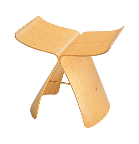 wood-stool-butterfly