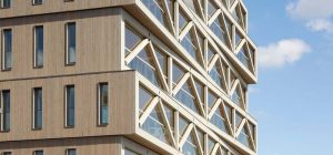 Wooden Apartment Building In Amsterdam