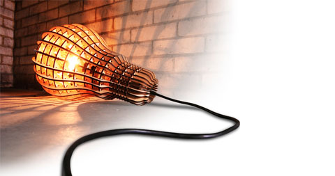 wooden bulb lamp - Wooden Bulb Lamp