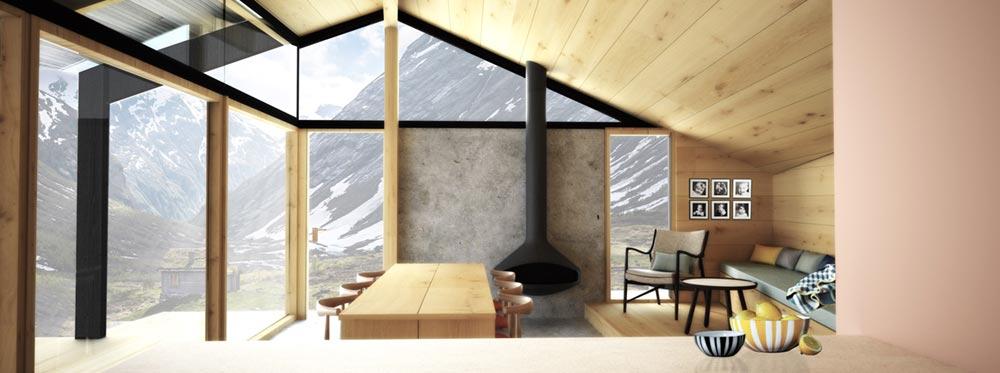 Wooden prefab cabin chalet style