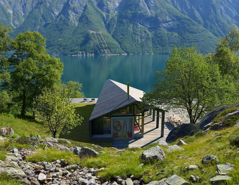Off The Grid Wooden Prefab Cabin Compact Yet Spacious In