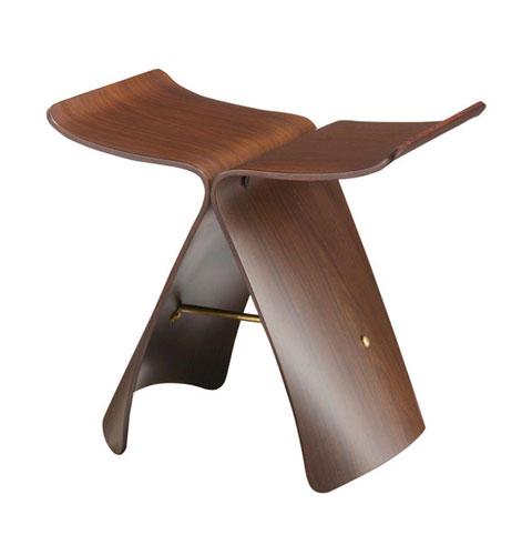 wooden-stool-butterfly